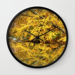 Reflections of Autumn Wall Clock