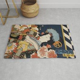 Japanese Art Print - Kabuki Actor #3 Rug