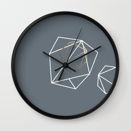 Abelie (White & gold) Wall Clock