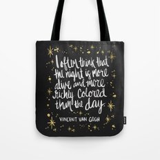 Night Owl on Gold Tote Bag