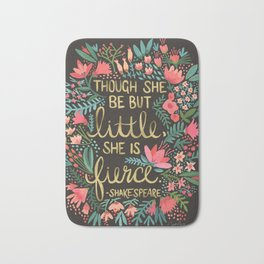 Little & Fierce on Charcoal Bath Mat