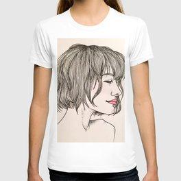 Les Femmes - Berry Lips T-shirt