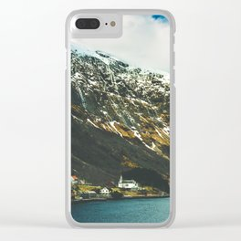 Viking Fjord landscapes of Norway Clear iPhone Case