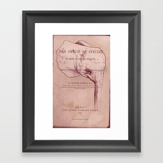 Origin of Species Framed Art Print