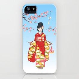 Kimono Basics iPhone Case