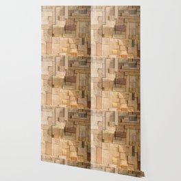 Wood bas-relief Wallpaper
