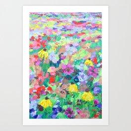 Texas Wildflowers Art Print