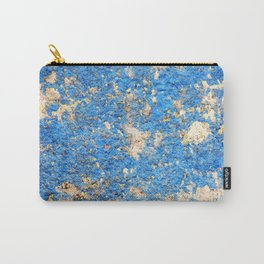 Textures in Blue Carry-All Pouch