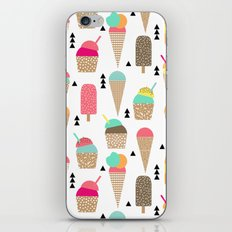 Ice Cream tropical summer spring central park new york city geometric food sweet treat dessert iPhone Skin