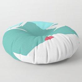 icy mountain Floor Pillow