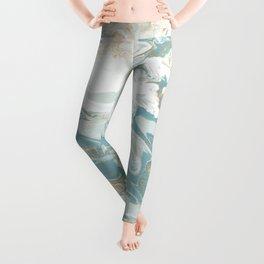 Marble - Grey, Blue, & White Leggings