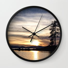 Lake Tahoe Sunset Wall Clock