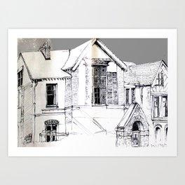 who lives here Art Print