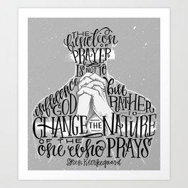 The Function Of Prayer Art Print