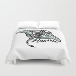 Hawaiian Tribal Ray Duvet Cover