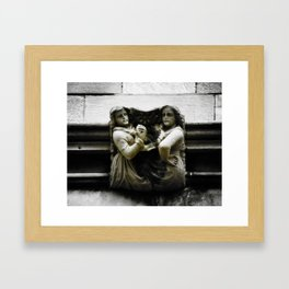 Sisters With a Cause Gargoyle, University of Chicago Framed Art Print