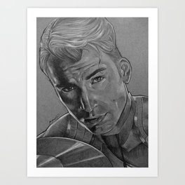 Captain Steve Rogers Art Print
