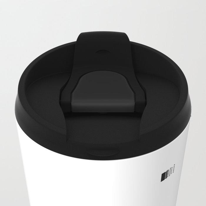 Pixel pattern Metal Travel Mug