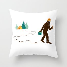 A Hairy Camp Robber Throw Pillow