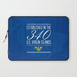Established in the 340/USVI - Blue Laptop Sleeve