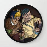 video games Wall Clocks featuring Video Games by Viktor Macháček
