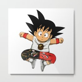 Little Goku Bape Hype Metal Print