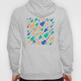 Guitars and notes musicians Hoody