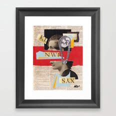 Syntax Error Framed Art Print