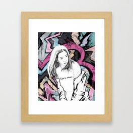 I feel a dream Framed Art Print