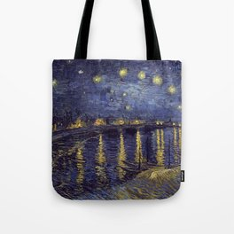 Vincent Van Gogh Starry Night Over The Rhone Tote Bag
