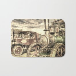 Steam Lorry And Traction Engine Vintage Bath Mat
