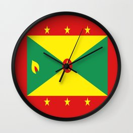 Grenada Flag Throw design Wall Clock