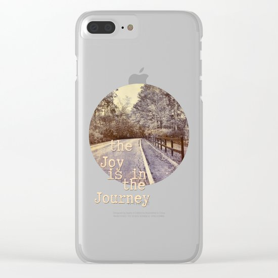 Road Trip - the joy is in the journey - Clear iPhone Case