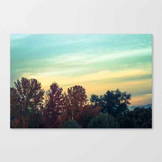 Protean Autumn Sky Canvas Print