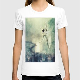 Spirit of the Night by john Atkinson Grimshaw T-shirt