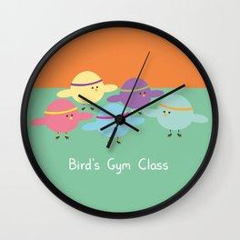 Birds Gym Class Wall Clock