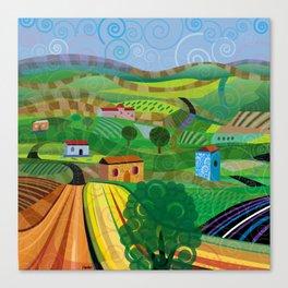 Santa Barbara Wine and Cheese (Square) Canvas Print