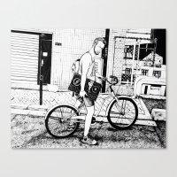 tim shumate Canvas Prints featuring Tim by Laura Elliott