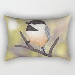 Ellery the black-capped chickadee Rectangular Pillow