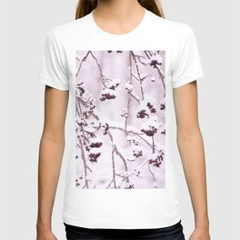 Snowy Rowan Branches with Berries in Scandinavian Forest - Winter Scene #decor #society6 #buyart T-shirt