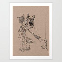 Boogieman in slacks Art Print
