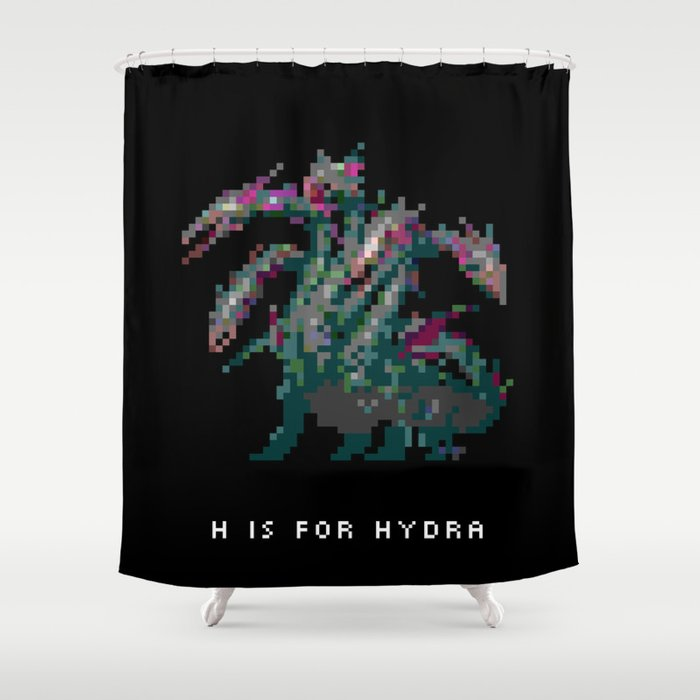 H is for Hydra Shower Curtain