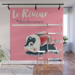 French Bulldog with French Sayings Wall Mural