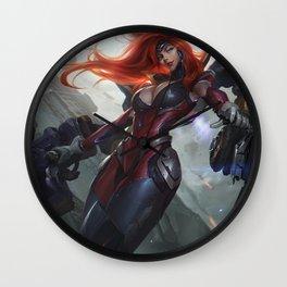 Gun Goddess Miss Fortune League Of Legends Wall Clock