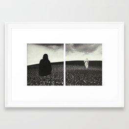 Ghost Diptych Framed Art Print