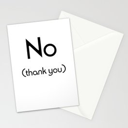 No (Thank You) Stationery Cards