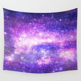 Purple Pastel Stars Wall Tapestry