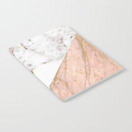 Marble rose gold blended Notebook