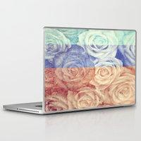 vintage flowers Laptop & iPad Skins featuring Vintage Flowers by Del Vecchio Art by Aureo Del Vecchio