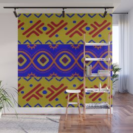 Ethnic African Knitted style design Wall Mural